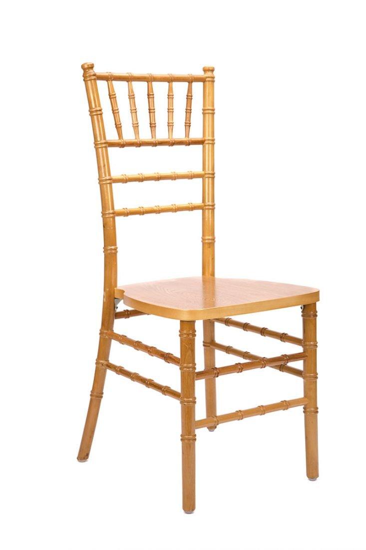Natural Wood Stacking ANSI BIFMA Standard Chiavari Chair