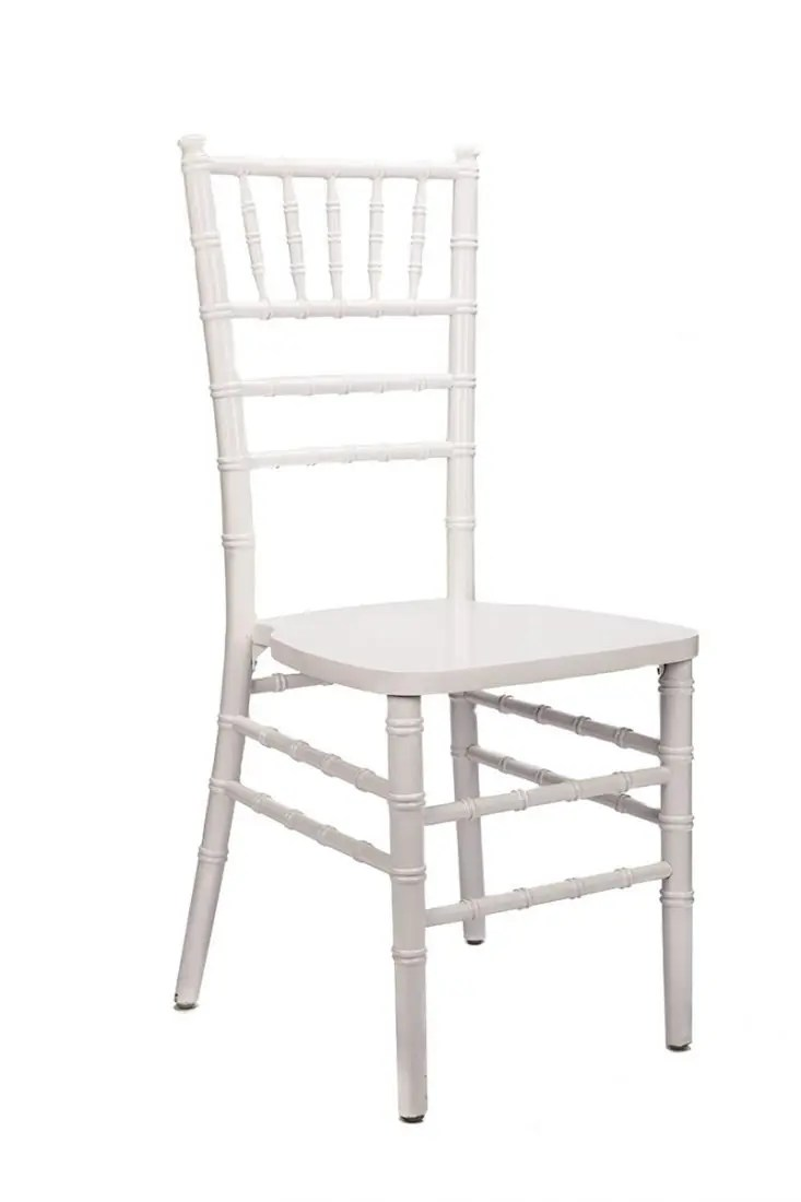 White Wood Stacking ANSI BIFMA Certified Chiavari Chair