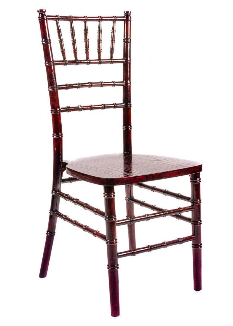 Mahogany Wood Stacking Chiavari Chair  The Chiavari Chair