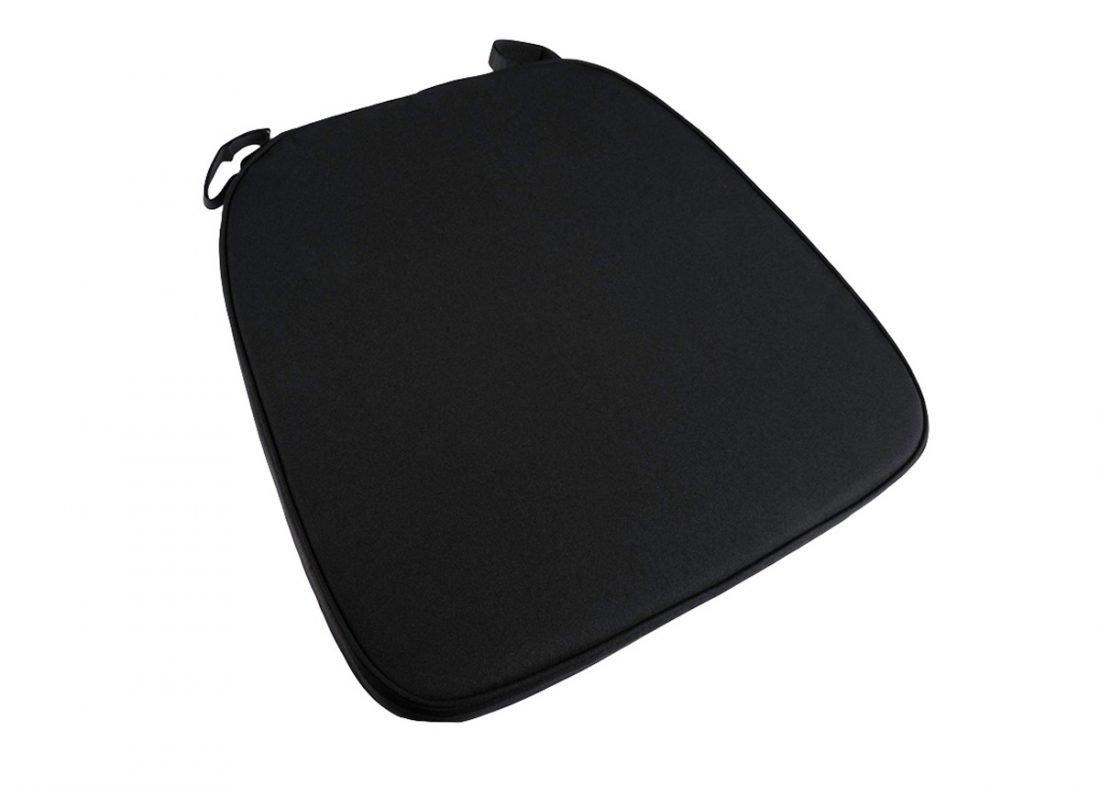 black chair cushions leather swivel chairs extra thick chiavari cushion