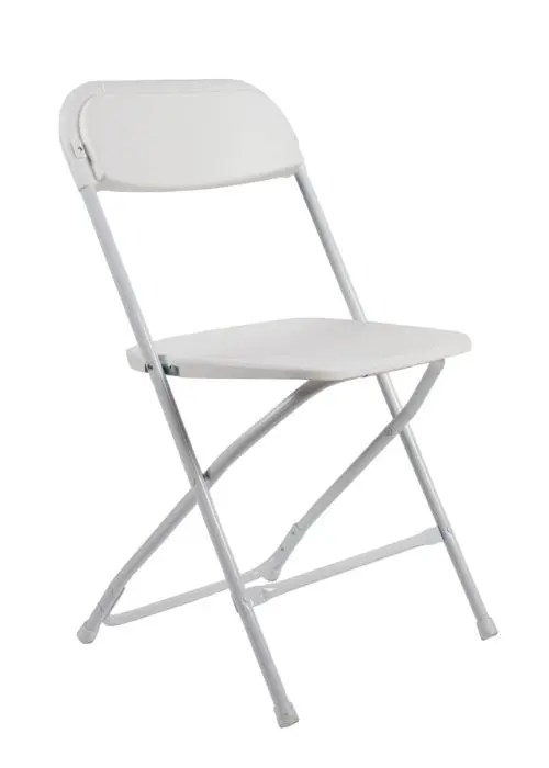 White Plastic Folding Chair Poly Chair  The Chiavari