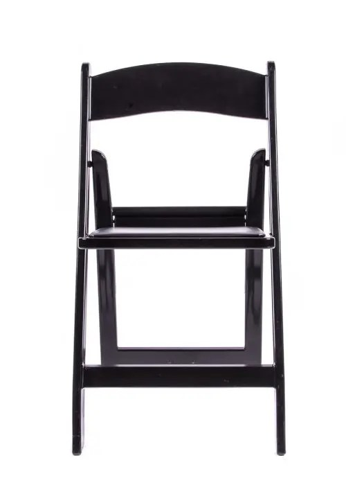 folding chair vinyl padded black mega motion lift customer service resin with seat - the chiavari company
