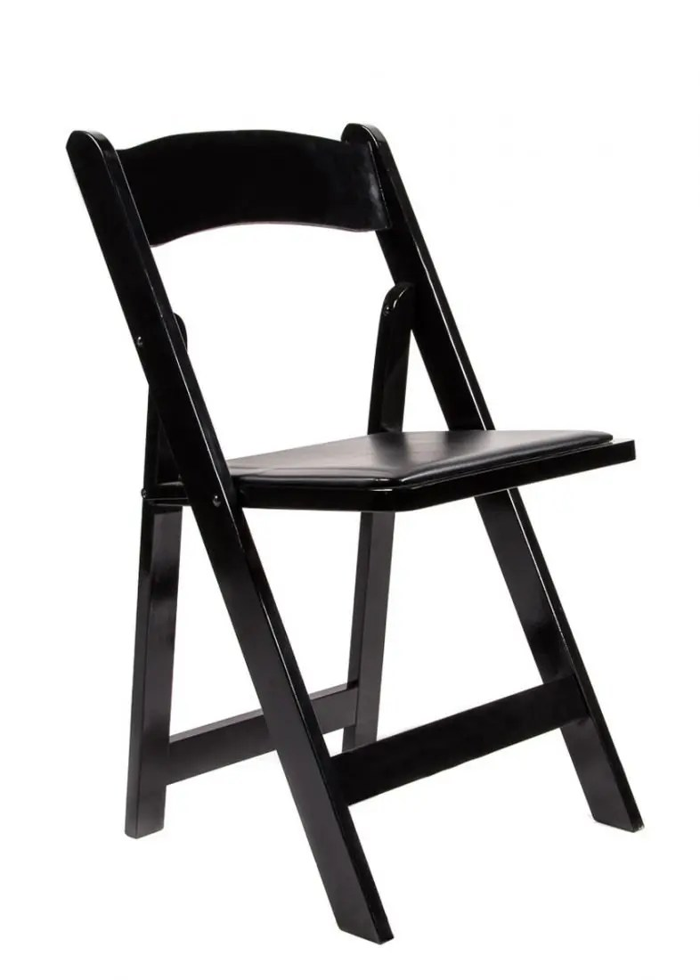 folding wood chairs with padded seat blue fuzzy chair black | chiavari