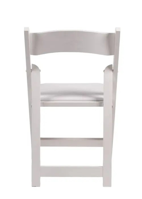 White Wood Folding Chair