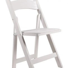 Poly Banquet Chair Covers Dining Replacement Seat White Resin Folding With Vinyl Padded - The Chiavari Company