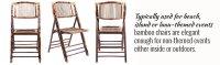 Bamboo Chairs Offer Eco-Friendliness | Chiavari Chair Co.