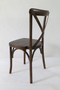 Espresso Wood Cross Back Chair | The Chiavari Chair Company
