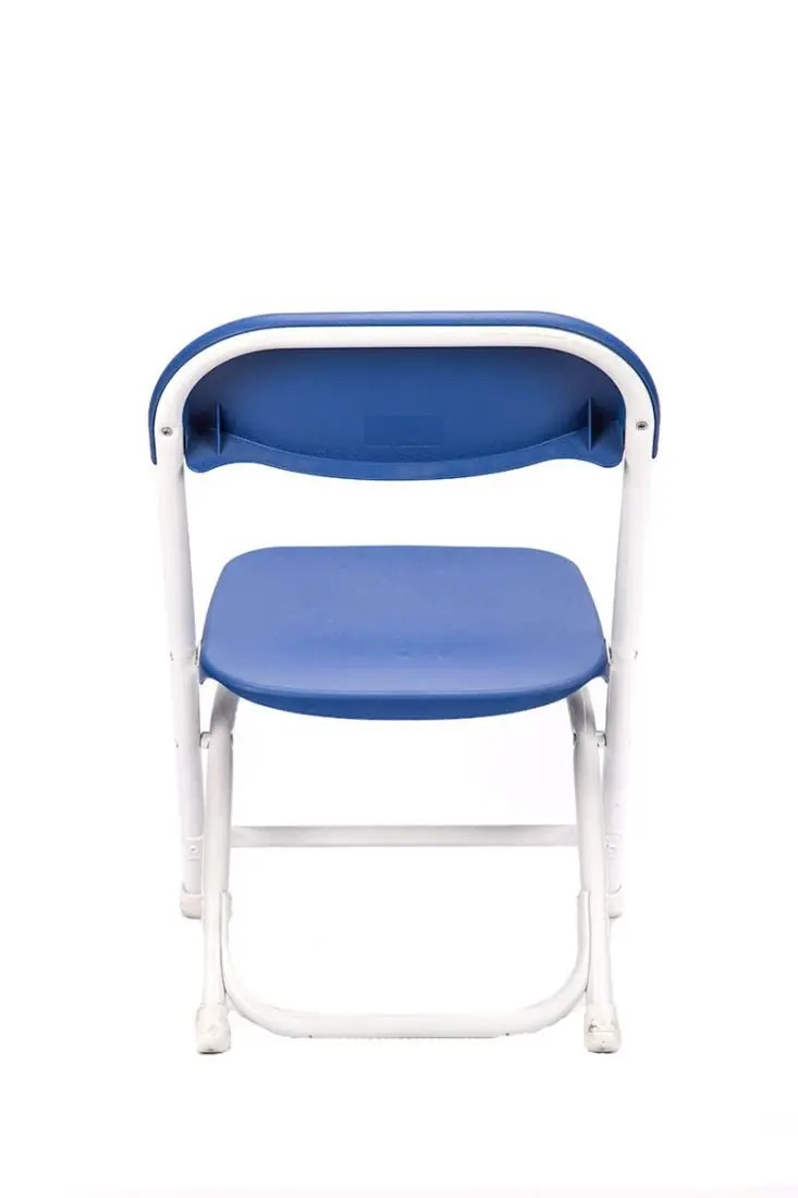 Blue Plastic Childrens Folding Chair