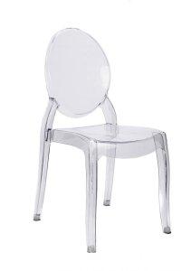 """Clear Resin """"Sophia"""" Ghost Chair"""