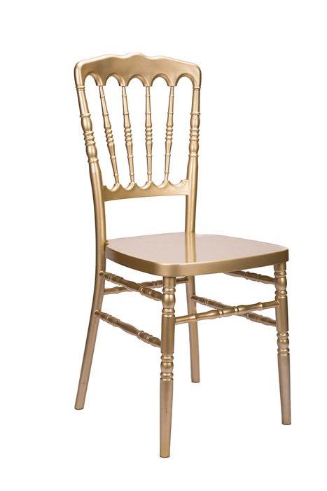 steel chair gold white wood folding chairs bulk resin inner core napoleon the chiavari company