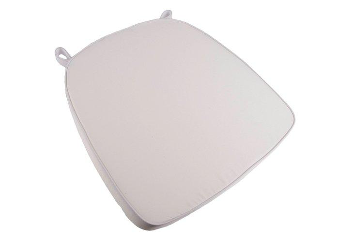 thick chair cushions zero g swing white extra chiavari cushion chairs high density velcro strap