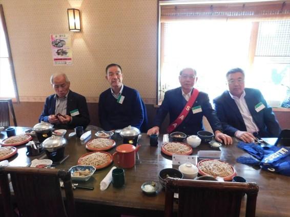 当クラブ重鎮(左から金田会員、郭会員、SAA大木会員、長嶋会員)