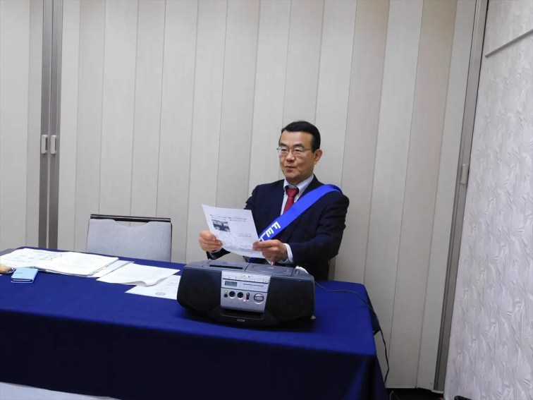 岡田プログラム委員会欠席の為、岩村会員増強・退会防止委員長が司会を務める