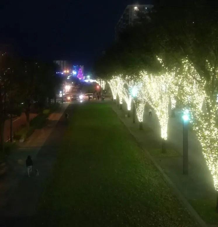 イルミライ★INZAI、点灯後の千葉ニューイオン付近02