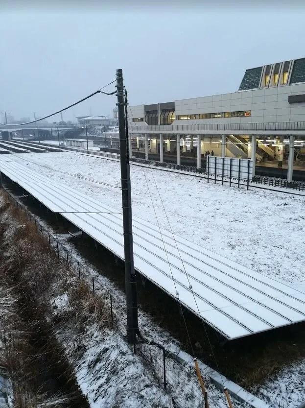 2018年は2月2日に千葉ニューで雪が降りました。