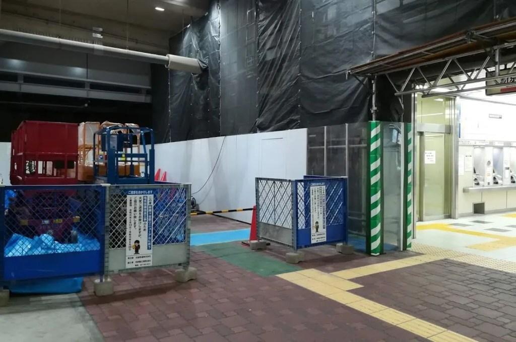 新京成新鎌ヶ谷駅の改札変更06。