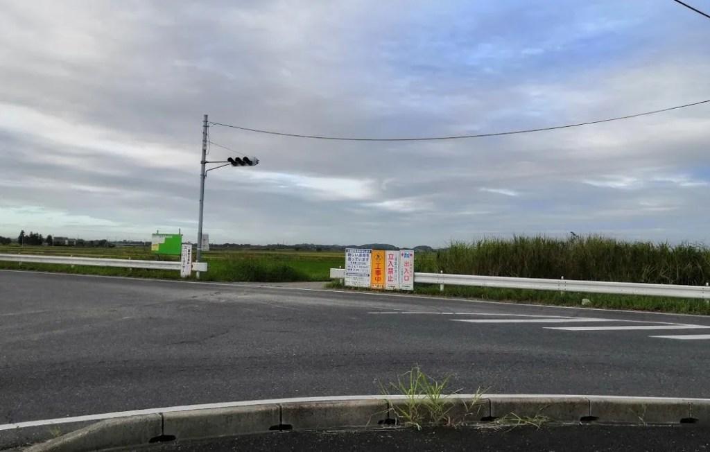 県道鎌ヶ谷本埜線関連の新しい道路、01。