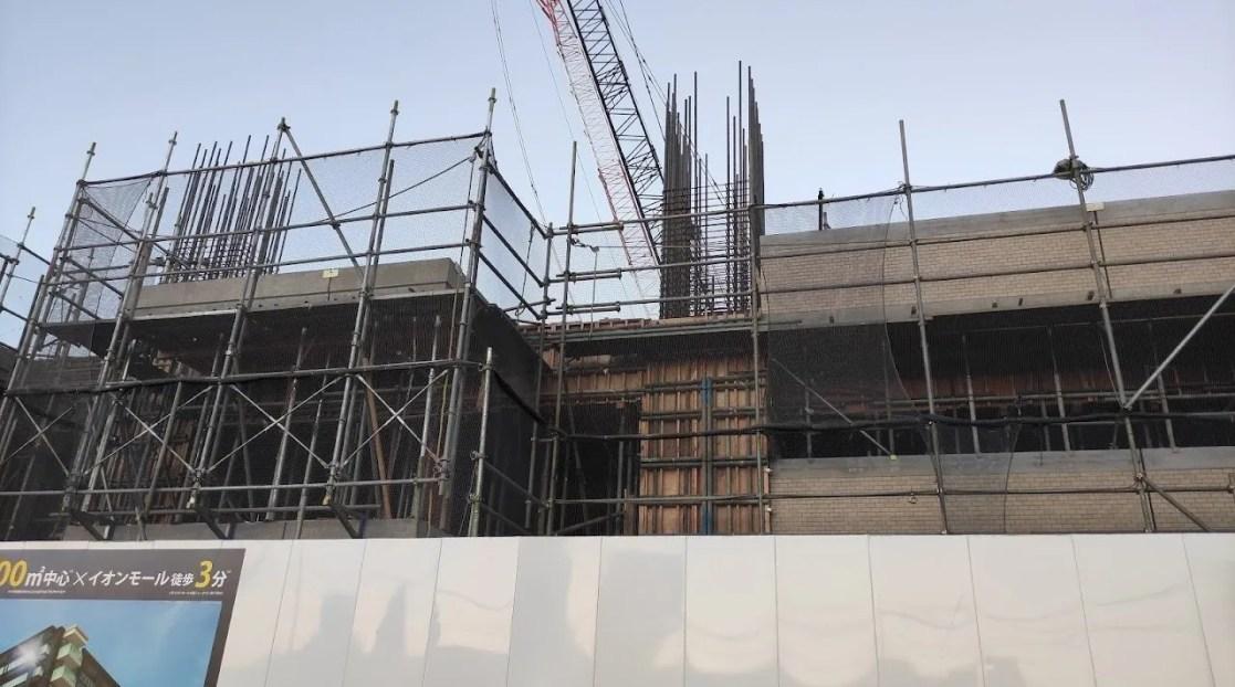 ヴェレーナシティ千葉ニュータウン中央アリーナの工事の様子。202110_03