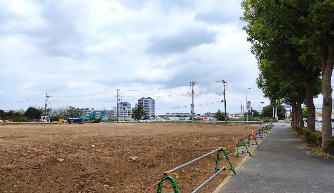 「トライアル」千葉ニュータウン店の解体状況、202108。02