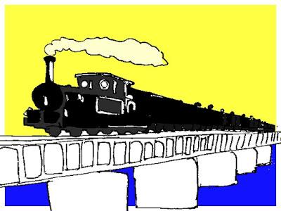 千葉を最初に走った汽車イメージ
