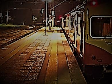 銚子駅に深夜に現れる電車のイメージ