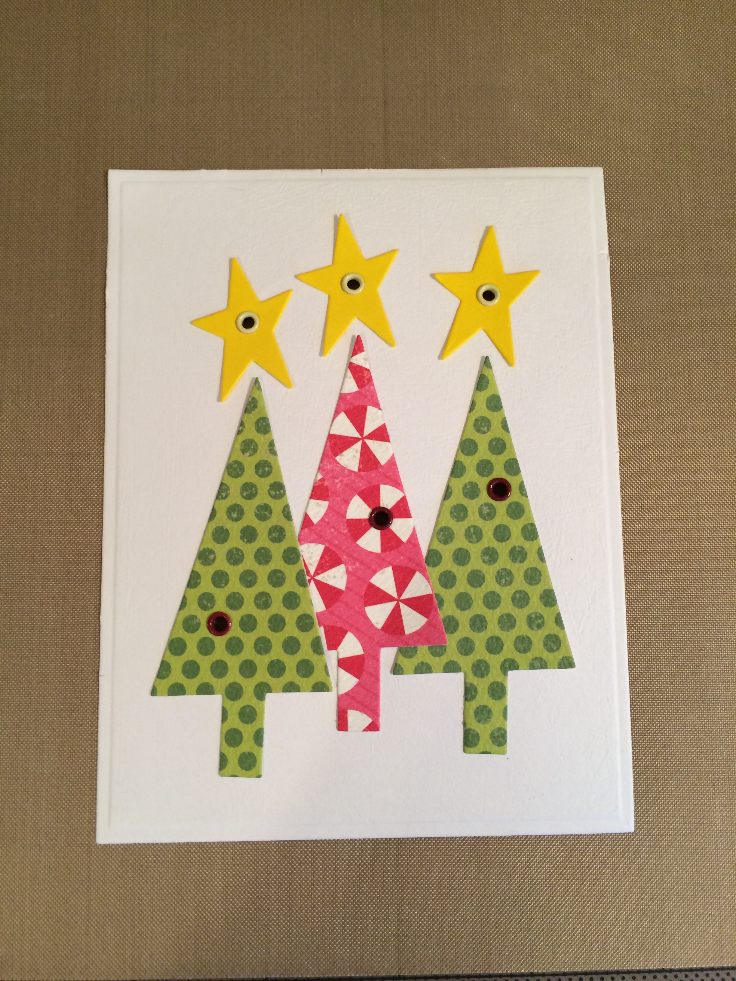 Twinkle Twinkle Christmas Trees Card Chibitronics
