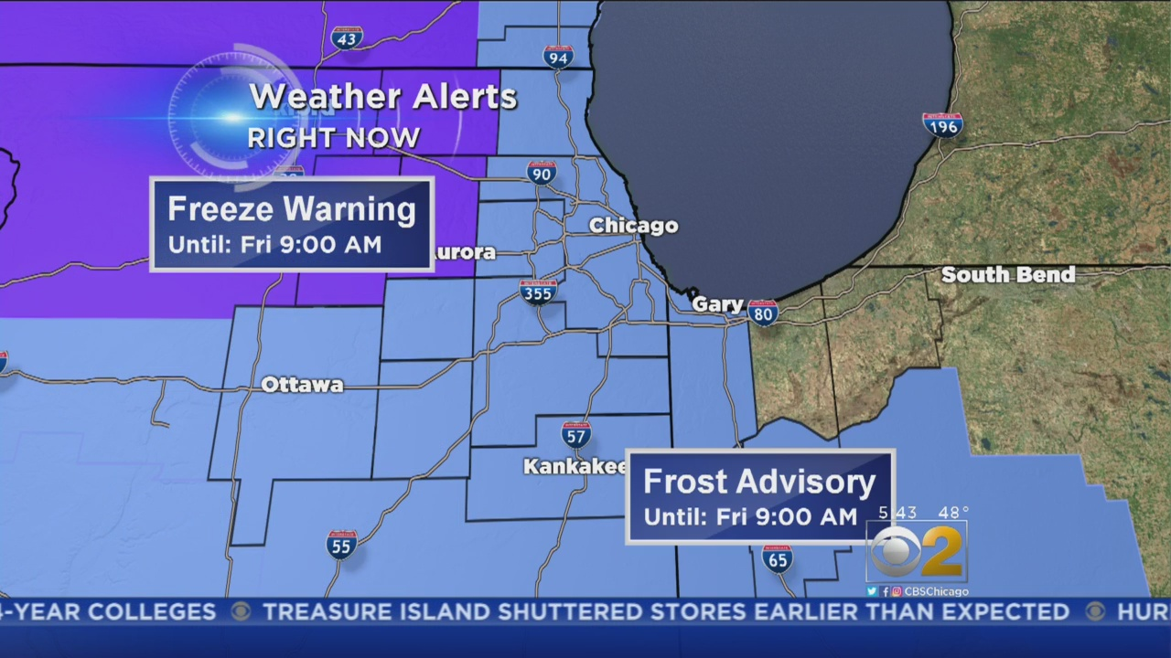 frost advisories freeze warnings looming as temperatures plunge [ 1280 x 720 Pixel ]