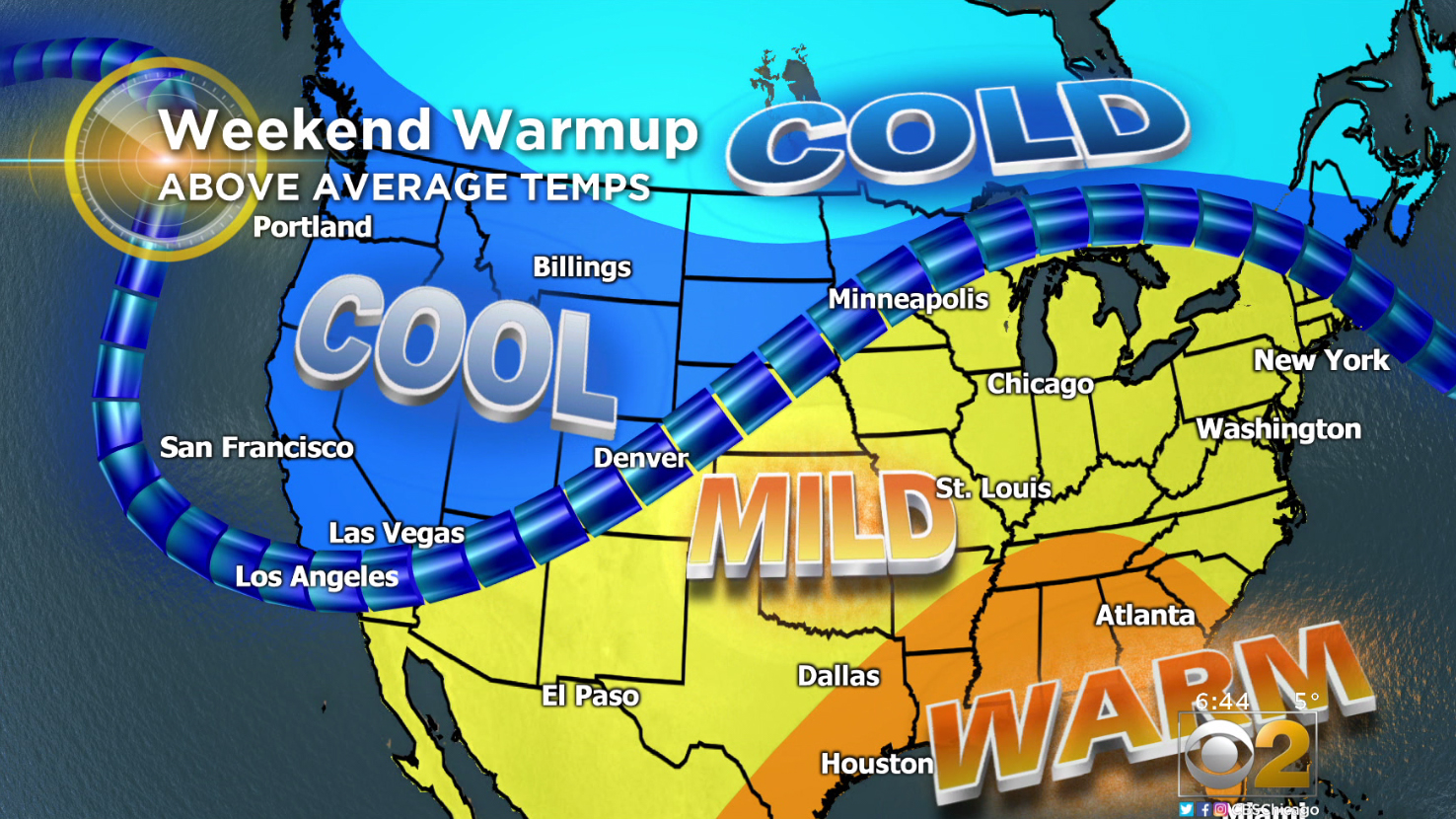 Chicago Weather Forecast: Good-Bye Deep Freeze, Hello Warm Weekend – CBS Chicago