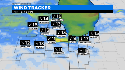 Wind Tracker Friday Evening: 06.11.20