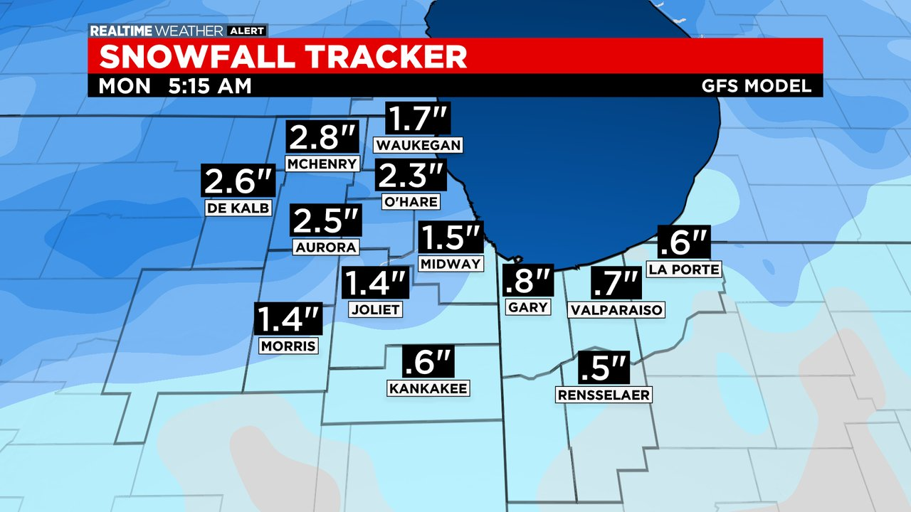 Snowfall Tracker: 02.20.21
