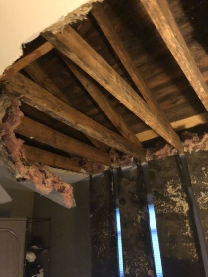 Adrienne And James Render Caved-In Ceiling