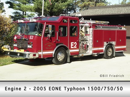 Naperville EONE E-ONE Typhoon engine