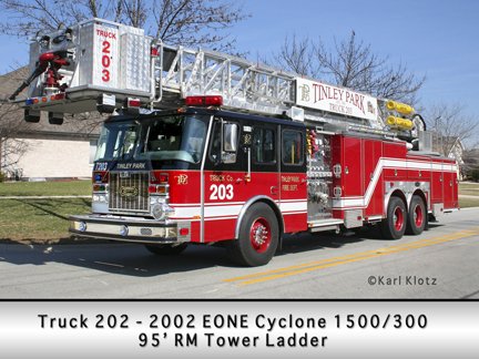 Tinley Park Tower Ladder Truck 203