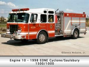 Joliet Fire Department engine 10