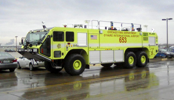 Chicago Fire Department O'Hare Airport Oshkosh Striker ARFF unit