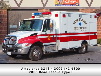 Lake Zurich Fire Department Road Rescue ambulance