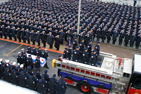 Chicago Fire Department Funeral for FF Edward Stringer
