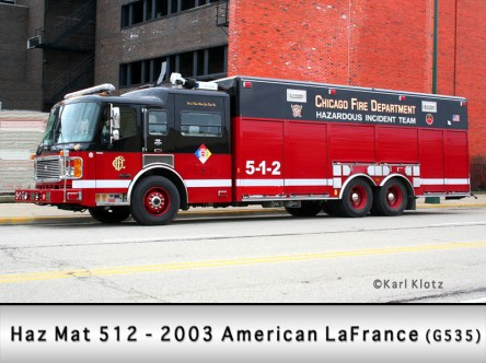 Chicago Fire Department Haz Mat 5-1-2 512 American LaFrance