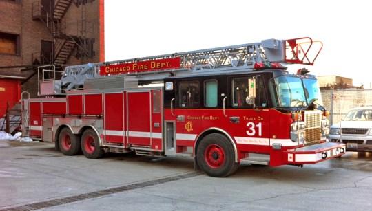 Chicago Fire Department Truck 31 Spartan Crimson