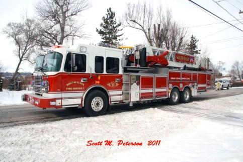 South Elgin Fire Department house fire Jan 20, 2011 Crimson tower