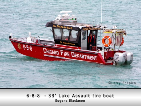 Chicago Fire Department fire boat 6-8-8 Eugene Blackmon