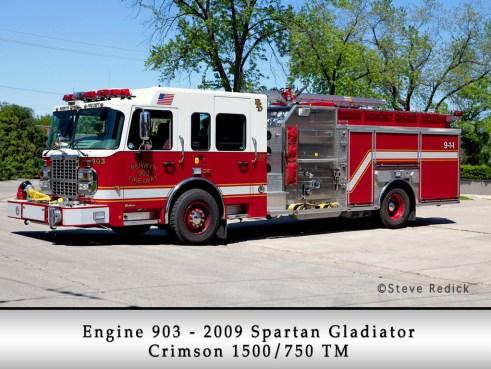 Berwyn Fire Department Engine 903 2009 Spartan Gladiator Crimson