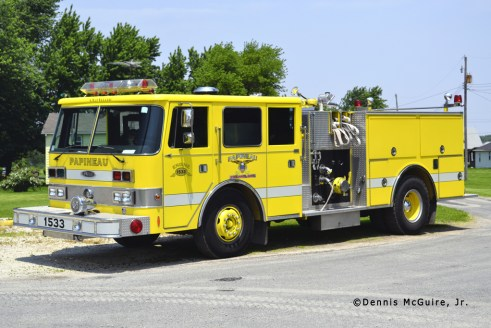 Papineau Fire Department Pierce Arrow pumper