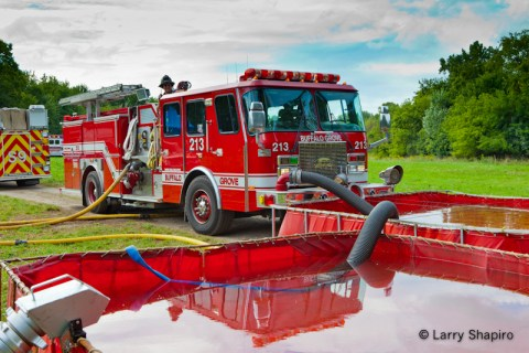 Long Grove Fire Department live fire training