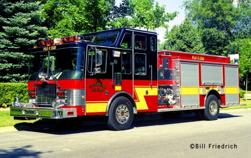 Flossmoor Fire Department HME Luverne engine