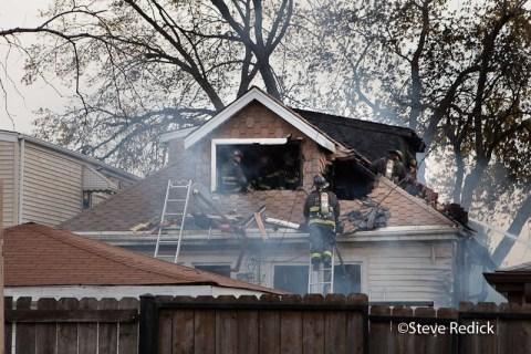 Chicago house explodes on Keating 11-13-11