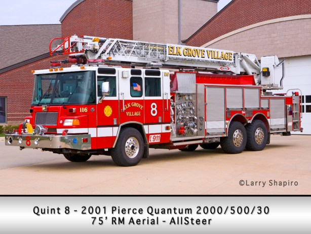Elk Grove Fire Department Quint 8 Pierce Quantum