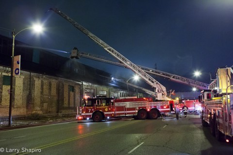 Chicago 3-11 alarm fire 12-27-11 at 2626 W Roosevelt Road