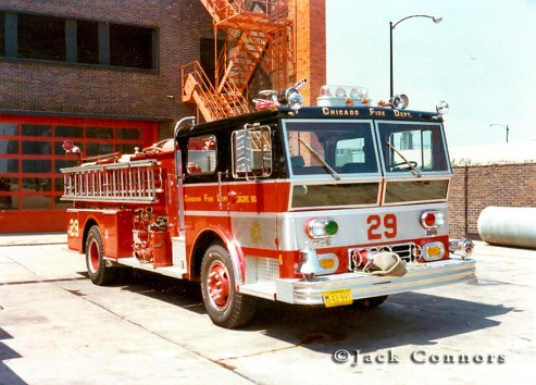 Chicago Fire Department 1973 Ward LaFrance Ambassador P80 engine 29