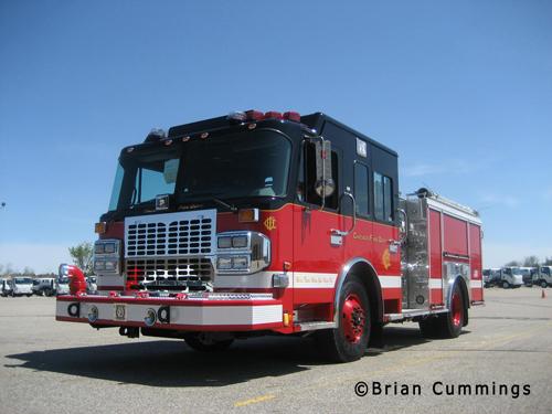 Chicago Fire Department Spartan Crimson engine